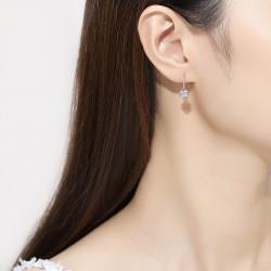 Korean style lucky four-leaf clover 925 sterling silver earrings