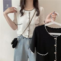 Korean style thin short-sleeved jacket