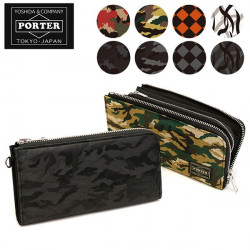 Porter GHILLIE Camouflage Long Wallet Made in Japan