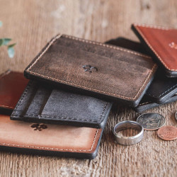 American-made Main Street Forge leather card holder