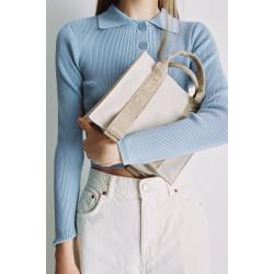 Japanese version of Zara 2way Mini canvas handbag