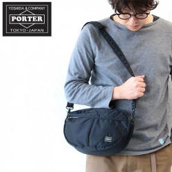 Porter Tanker semi-circular lightweight water-repellent shoulder bag made in Japan