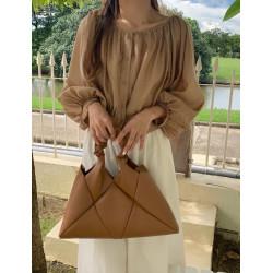 Korean style rhombic woven 2way shoulder bag