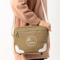Japanese version Agnes b Voyage cotton canvas shoulder bag
