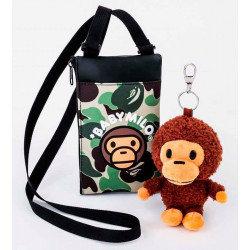 Japanese version of Bape KIDS 15th anniversary doll keychain + pouch