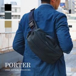 Porter Upside 2way sling wear-resistant shoulder bag made in Japan