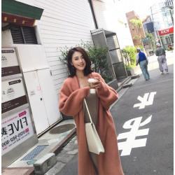 Korean style loose lapel open chest coat