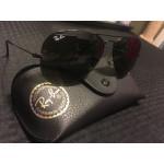 Ray-Ban Aviator Black/Green Sunglasses