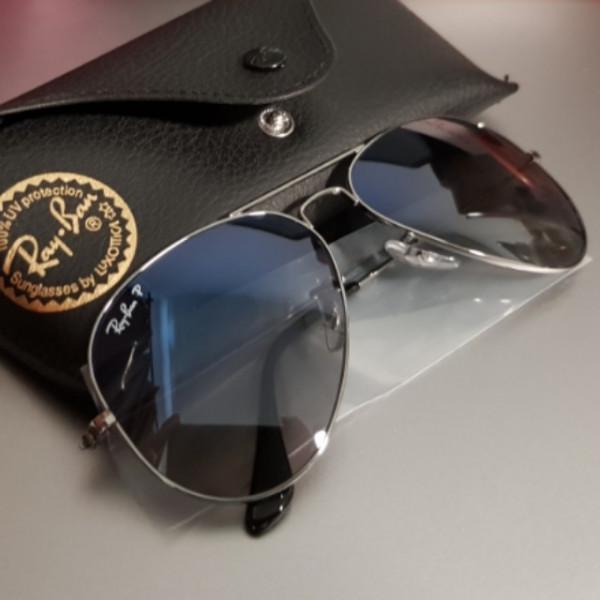Ray Ban Aviator 58mm Polarized Blue Grey Gradient Sunglasses