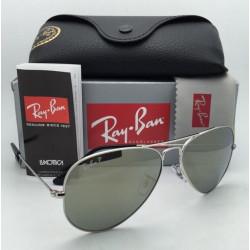Ray Ban Aviator Classic Polarized Grey Mirror Sunglasses