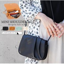 Japanese version 3way double leather handbag