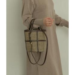 MARIKE 2way large grid bucket shoulder bag