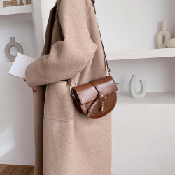 Korean style semicircle frosted retro shoulder bag
